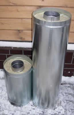 Дымоход сэндвич-труба 115*200 L=1.0м</br>внутренняя труба &Oslash;115мм - нерж. 0.5мм</br> внешний контур &Oslash;200мм - оцинковка 0.5мм