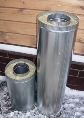 Дымоход сэндвич-труба 140*250 L=1.0м</br>внутренняя труба &Oslash;140мм - нерж. 0.5мм</br> внешний контур &Oslash;250мм - оцинковка 0.5мм