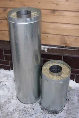 Дымоход сэндвич-труба 120*200 L=0.5м</br>внутренняя труба &Oslash;120мм - нерж. 1.0мм</br> внешний контур &Oslash;200мм - оцинковка 0.5мм