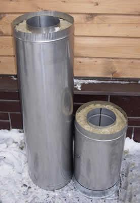 Дымоход сэндвич-труба 140*250 L=0.5м</br>внутренняя труба &Oslash;140мм - нерж. 1.0мм</br> внешний контур &Oslash;250мм - оцинковка 0.5мм