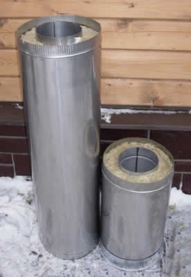 Дымоход сэндвич-труба 150*250 L=1.0м</br>внутренняя труба &Oslash;150мм - нерж. 1.0мм</br> внешний контур &Oslash;250мм - оцинковка 0.5мм