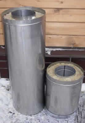 Дымоход сэндвич-труба 200*300 L=1.0м</br>внутренняя труба &Oslash;200мм - нерж. 1.0мм</br> внешний контур &Oslash;300мм - оцинковка 0.5мм
