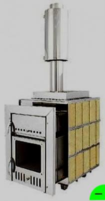Печь для бани Чародейка-М 20 м3 (облицовка шамотный кирпич)