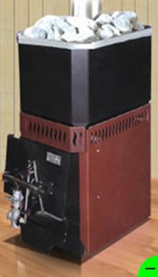 Печь для бани Русь-12 ЛГДУ с газовой горелкой САБК-9.1