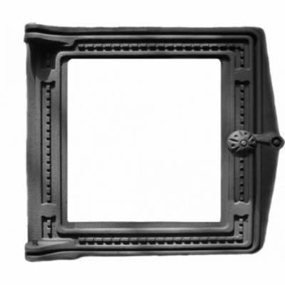 Дверка топочная ДТ-4 со стеклом 250мм*280мм