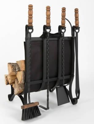 Дровница с сумкой для переноса дров