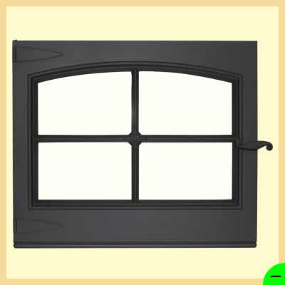 Дверка каминная ДК 650-1А</br> для печи-камина НОРМАНДИЯ</br>650мм*560мм