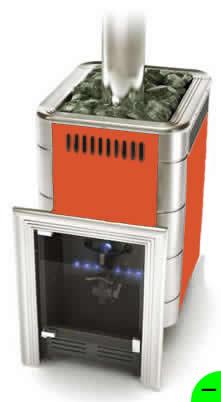 Печь для бани и сауны газовая Уренгой-2 терракота (без горелки)