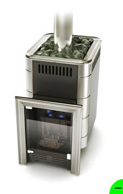 Печь для бани и сауны газовая Уренгой-2 антрацит (без горелки)