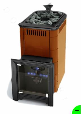 Печь для бани и сауны газовая Таймыр терракот (без горелки)