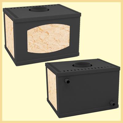 Печь-камин Варта с дополнительными модулями
